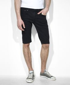 Mens Black Cut Off Shorts