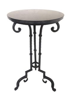 Ornate Iron Side Table / Alcove Table With Granite Stone Top Design Furniture, Large Furniture, Shabby Chic Furniture, Furniture Decor, Country Chic, French Country, Granite Stone, Leather Furniture, Inspired Homes