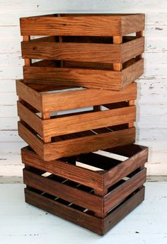 Set Of 3 Wood Crate Cubby, Fantastic Storage Solution