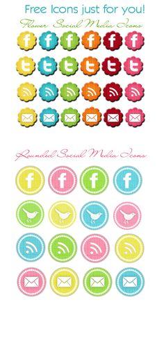 Fun, Free Social Media Icons
