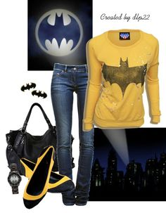 """Batman outfit :: i don't usually like this whole """"outfit"""" things, but this one is an exception! :D"""