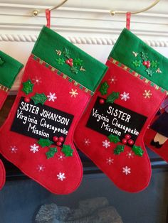 Classic Name Tag Christmas Stocking - Customized – Missionary Momma Mall