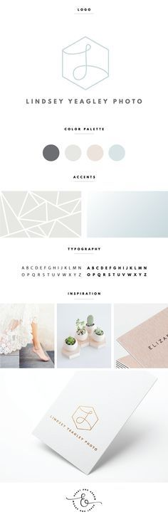 Subtle hexagon logo design and brand board / by Heart & Arrow Design