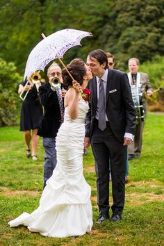 You don't have to be in New Orleans to have a second line! See this festive wedding on SMP: http://www.StyleMePretty.com/tri-state-weddings/2014/03/12/brooklyn-botanical-garden-wedding-at-the-palm-house/ Ava Weddings Fine Art Photography