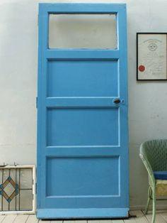 イギリス アンティーク ガラス入り木製ドア 扉 建具 2729 - ヤフオク!