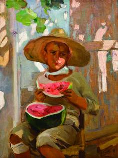 El niño de la sandía. 1916 de Joaquín Sorolla