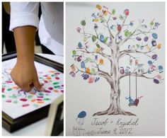 Gift DIY: Thumbs Up for this lovely Tree Cover as gift/ guestbook! kreahobshop.dk