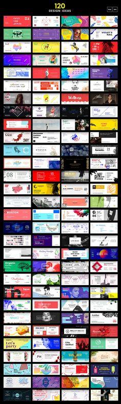 120 in 1 Web Banner Templates Bundle - Social Media - 3 Web Banner Design, Design Web, Banner Design Inspiration, Website Design Inspiration, Social Media Design, Web Banners, Design Trends, Logo Design, Behance Illustration