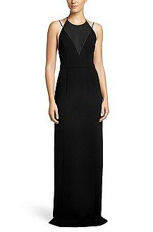 Hugo Boss Evening dress 'Debera' in a triacetate blend, Black