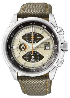 that most Eco-Drive type watches are equipped with a special titanium lithium ion secondary battery that is charged by an amorphous silicon solar cell located behind the dial. Sport Watches, Watches For Men, Citizen Watches, Gadget Watches, Watch Fan, Solar Watch, Citizen Eco, Bracelet Cuir, Dashboards