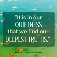 You're too quiet! Speak up. Project. I can't hear you ... but it is in our quietness that we find our deepest truths. #quotes #inspiration #introverts