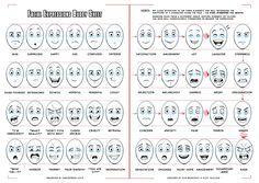 facial expressions buddy sheet for comics cartoons by darkspeeds
