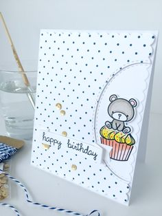 Carnival Cupcakes - Mama Elephant. Card by Nicky Noo Cards www.instagram.com... and https://www.facebook.com/nickynoocards/