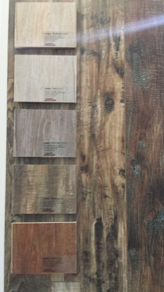 An extreme version of the rustic boards that are  in vogue today