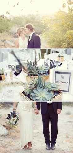 So chic, Palms Springs wedding captured by Sarah Yates