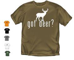 Got Deer - Gray - X-Large Hunting T-Shirt