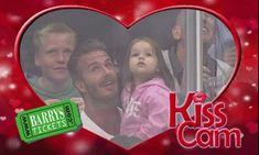 David Backham Kiss Cam - so adorable
