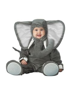 Lil Elephant Character Toddler Costume - Lil Elephant Character baby outfits & animal costumes from our Toddler Costumes section. Costume Cauldron is the web's finiest theatre and Halloween store. Baby Elephant Costume, Halloween Bebes, Animal Halloween Costumes, First Halloween, Cute Costumes, Cute Elephant, Infant Halloween, Grey Elephant, Carnival