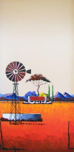 Pieter van Heerden - Farm Dam x Landscape Art, Landscape Paintings, Cape Dutch, South African Art, Olie, New Hobbies, Happy People, Painting Inspiration, Art Gallery