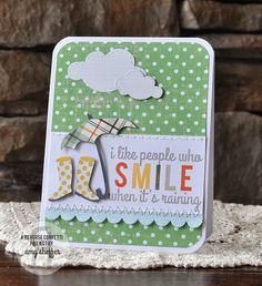 Pickled Paper Designs (Amy Sheffer). Reverse Confetti stamp set: You Make Me Smile. Encouragement card. Friendship card.