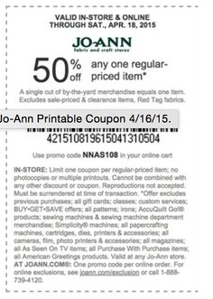Jo-Ann Coupon - 50% OFF on any ONE ITEM get it here: http://www.imin.com/store-coupons/joann/