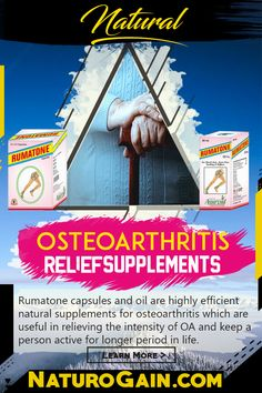 Best Natural Osteoarthritis Relief Supplements and Oil Rumatone capsules and oil are the best natural osteoarthritis relief supplements and oil. These lessen pain, treat discomfort, reduce swelling, heal damage cartilages and improve joint health. Rheumatoid Arthritis Treatment, Arthritis Pain Relief, Different Types Of Arthritis, Autoimmune Disease, Alternative Medicine, Oil, Natural, Health, Salud