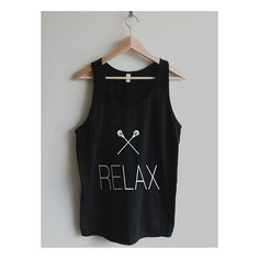 RELAX Lacrosse LAX Sticks Unisex Sheer Jersey Tank Top by American Apparel Made In: United States Shipped From: United States Lead Time: 3 - 4 days
