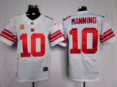 White Manning Elite C Patch Nike NFL New York Giants #10 Jersey    $23