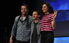Sean, Jared, and Lana at Paris fairytales convention / gotta love #OUAT