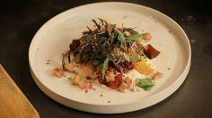 Salade met spekbokking uit de aflevering 'Melk uit Weesp' #KMVB #kokenmetvanboven #voorgerechten