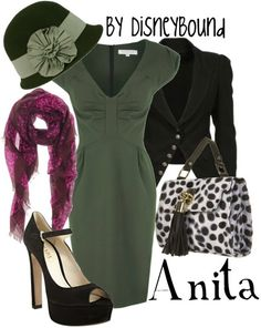 cute outfit inspired by anita from 101 dalmatians