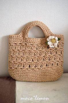 Crotchet Bags, Crochet Tote, Crochet Handbags, Crochet Purses, Knit Crochet, Bag Pattern Free, Crochet Basket Pattern, Crochet Patterns, Crochet Hello Kitty