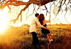 couple, couples photography, couples pictures, in love, engagement pictures, engagement photos, picture ideas, tree swing