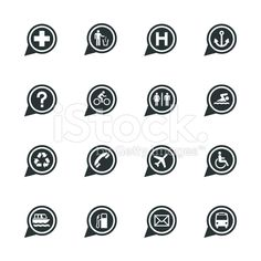 Map Sign Silhouette Vector File Icons Set 1.