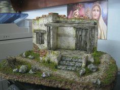 Nativity House, Christmas Nativity Scene, Nativity Scenes, Archangel Michael, Diorama, Fountain, Garden Sculpture, Christmas Decorations, Miniatures