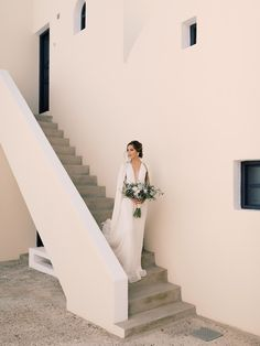 Inspired By This Picturesque Elopement on the cliffs of Santorini, Greece Shades Of Light Blue, Romantic Moments, Santorini Greece, Destination Weddings, Down Hairstyles, On Your Wedding Day, Traveling By Yourself, Wedding Photography, Portraits