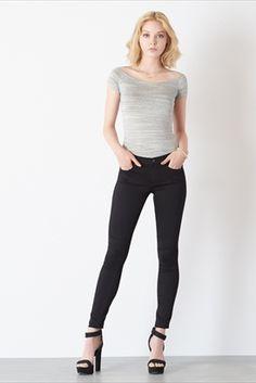 Kate Super Soft Skinny Jeans In Jet Black