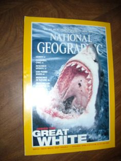 National Geographic April 2000 Vol. 197, No. 4 Inside the Great White - for sale at Wenzel Thrifty Nickel ecrater store