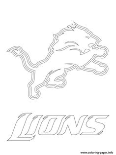 detroit lions logo football sport coloring pages printable and coloring book to print for free. Find more coloring pages online for kids and adults of detroit lions logo football sport coloring pages to print. Lion Coloring Pages, Football Coloring Pages, Superhero Coloring Pages, Sports Coloring Pages, Adult Coloring, Detroit Lions Funny, Detroit Lions Logo, Detroit Lions Football, Lions Team