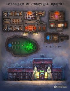 Fantasy Map, Fantasy World, Steampunk Characters, Building Map, Dnd Classes, Dungeons And Dragons Game, Map Pictures, Map Shop, Dungeon Maps