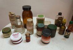Frascos Y Cajas Farmacia - Lote - Antiguas - Deco Vintage