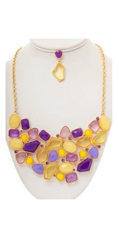 Perfect for a game! Vestique - Colorful Collar in Purple & Gold $24.50