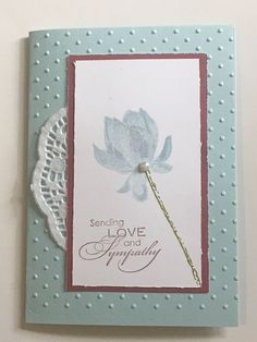 Blue Flower Sympathy handmade card - Stampin Up in Crafts, Handcrafted Arts, Cards | eBay!