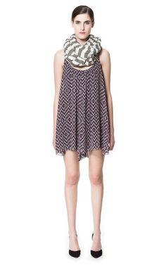 PRINTED STRAPPY DRESS - Dresses - Woman - ZARA United States