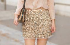 gold//glitter//skirt.