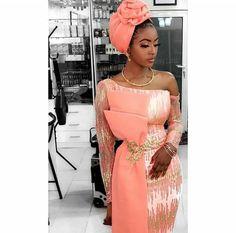 Africa fashion which looks gorgeous. Aso Ebi Lace Styles, Lace Gown Styles, African Lace Styles, African Lace Dresses, Latest African Fashion Dresses, African Print Fashion, Africa Fashion, Ankara Styles, African Wedding Attire