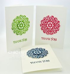 Thank You card - quick and simple. I think this is Betsy's blossoms with some of the In Colors.