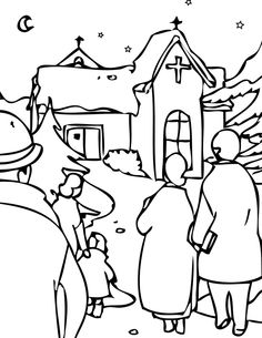 Atmosphere Of Christmas Eve Coloring Page