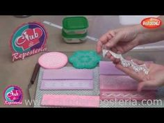 Cake Decorating Techniques, Cake Decorating Tutorials, Cookie Decorating, Sugar Veil, Sugar Lace, Cookie Bouquet, Flower Cookies, Cake Youtube, Amor Youtube