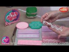 Cómo Hacer Encajes de Azúcar o Encajes Comestibles - YouTube